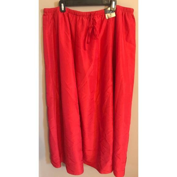 8789ab042 Venezia Skirts | Lane Bryant Redorange Maxi Skirt Size 2228 | Poshmark
